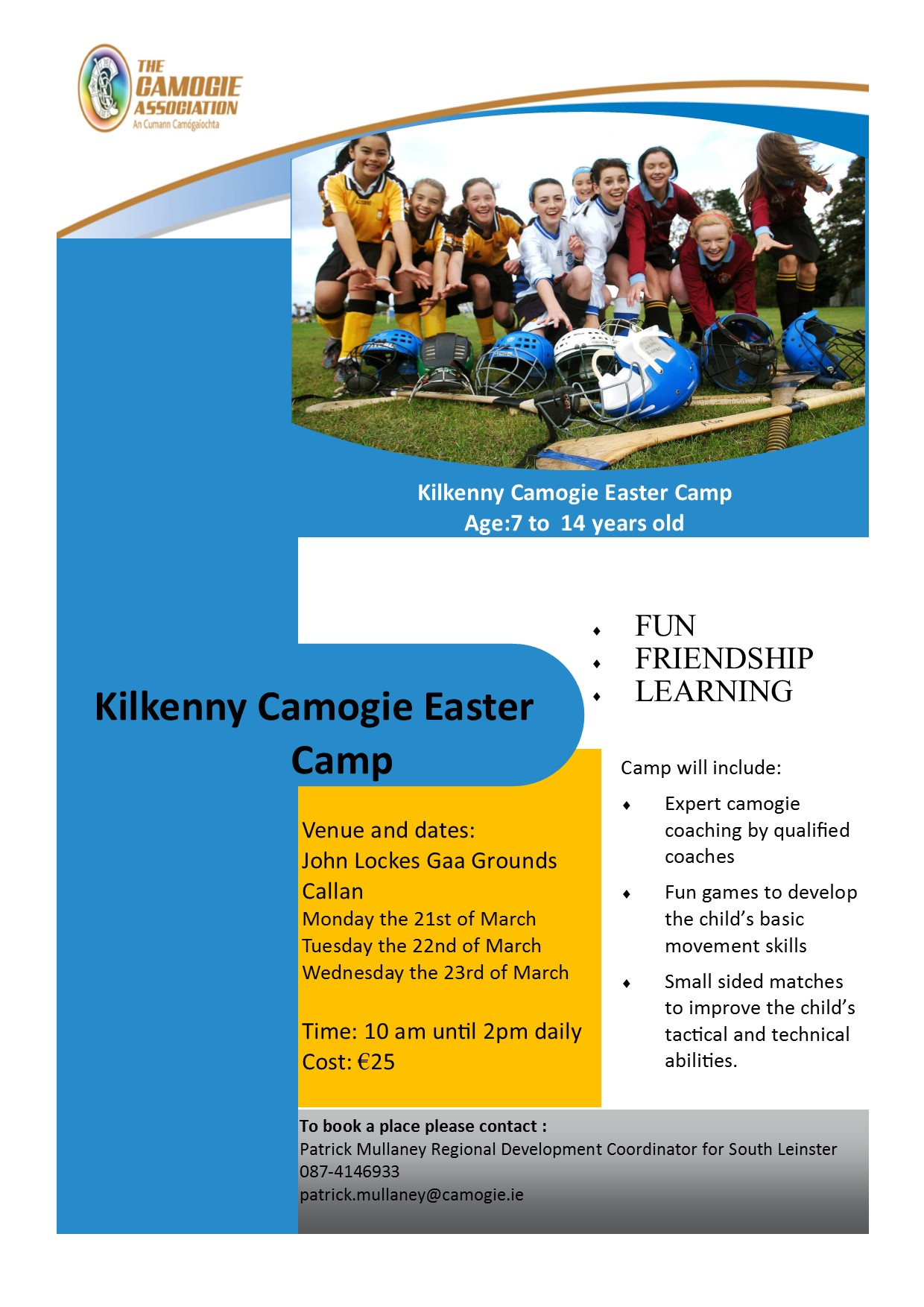 Kilkenny Easter camp 2016