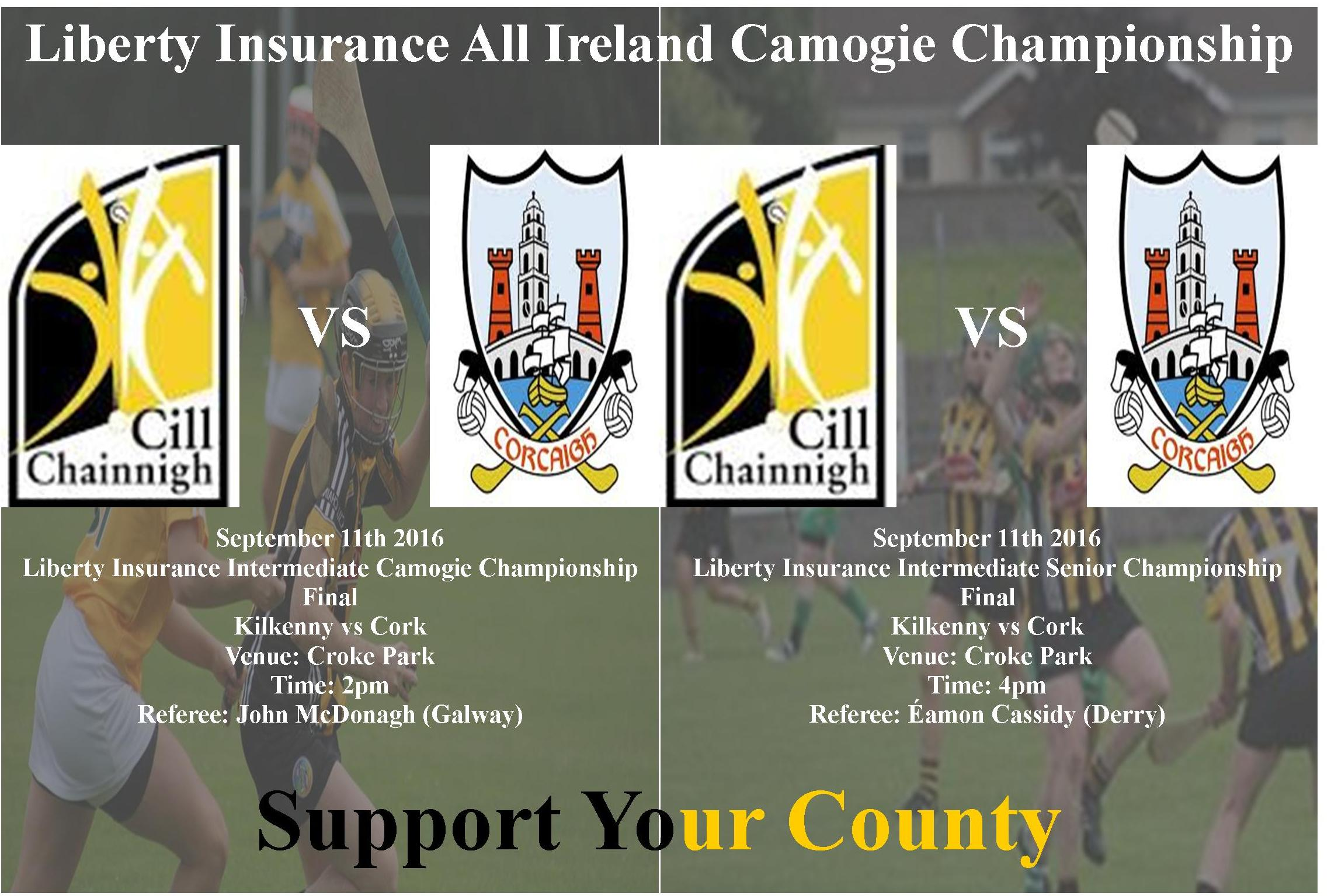 All Ireland Senior & Intermediate Camogie Championship Semi Final Kilkenny vs Cork
