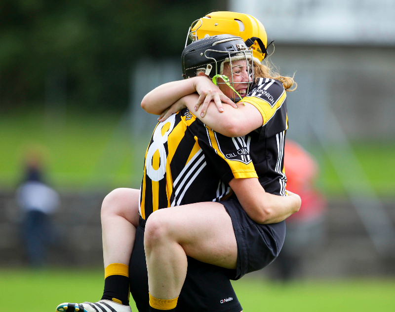 Angela Kenneally and Niamh Sweeney celebrate at the end of the game 20/8/2016