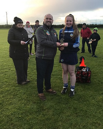 Roisin Casey, St Brigid's - 1st Place in County Feile Skills - Represents the County this Saturday in Abbottstown in the All-Ireland Feile Skills
