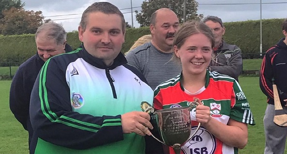 St Martins winning captain Annie Dowling