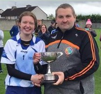 Thomastown winning captain Nicole Dunne