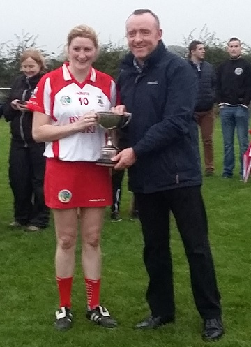 Young Irelands winning captain Elizqbeth Byrne