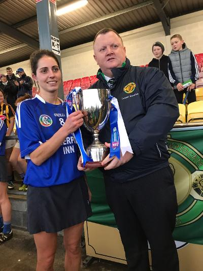 Jenny Reddy Thomastown winning captain Leinster Final