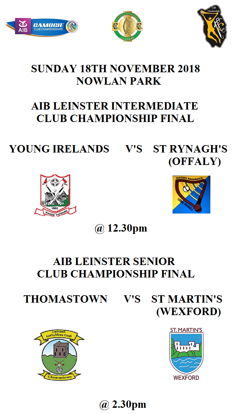 AIB Leinster Senior Intermediate Club Finals 181118