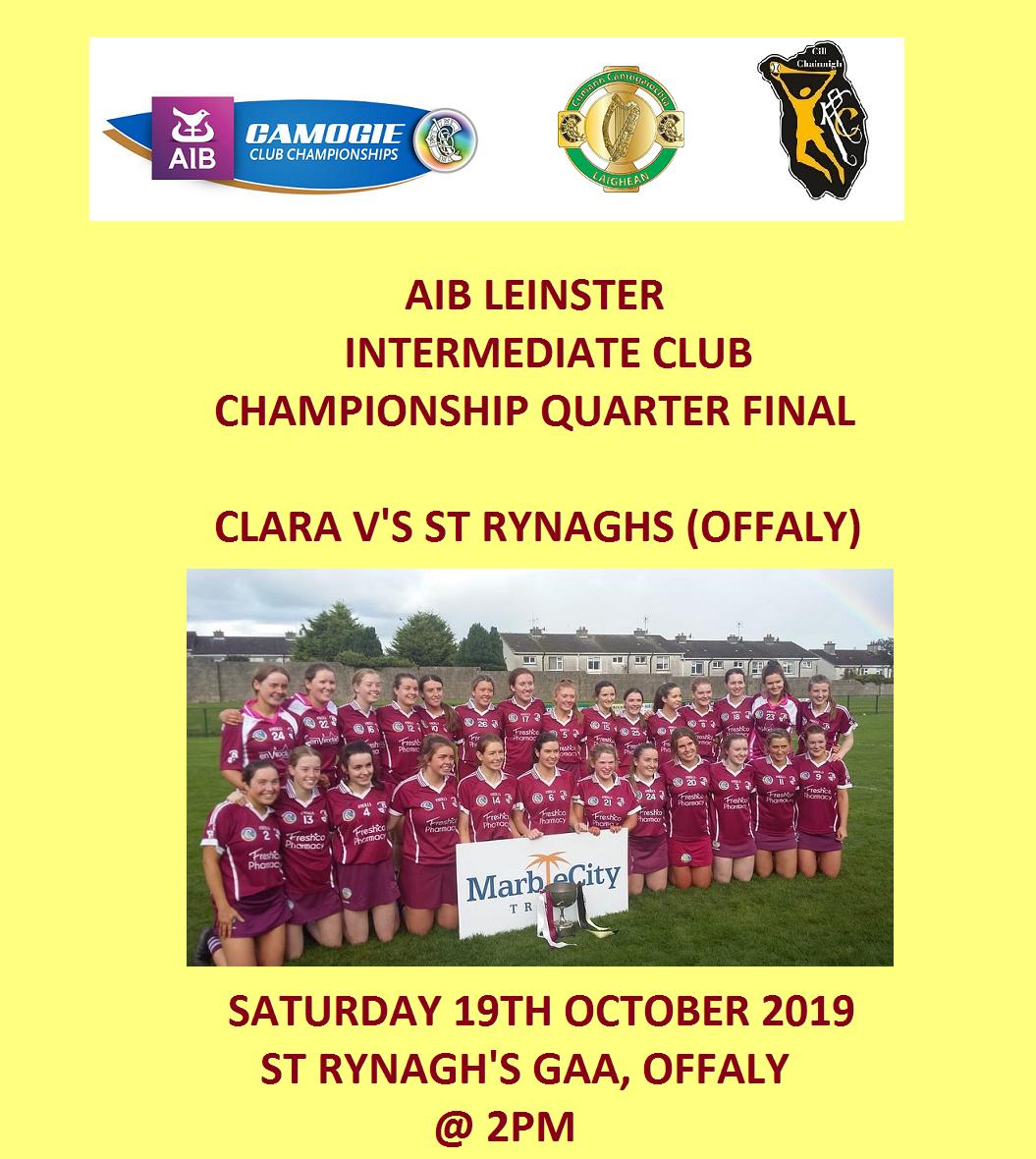Clara promotion for Leinster Club Quarter Final