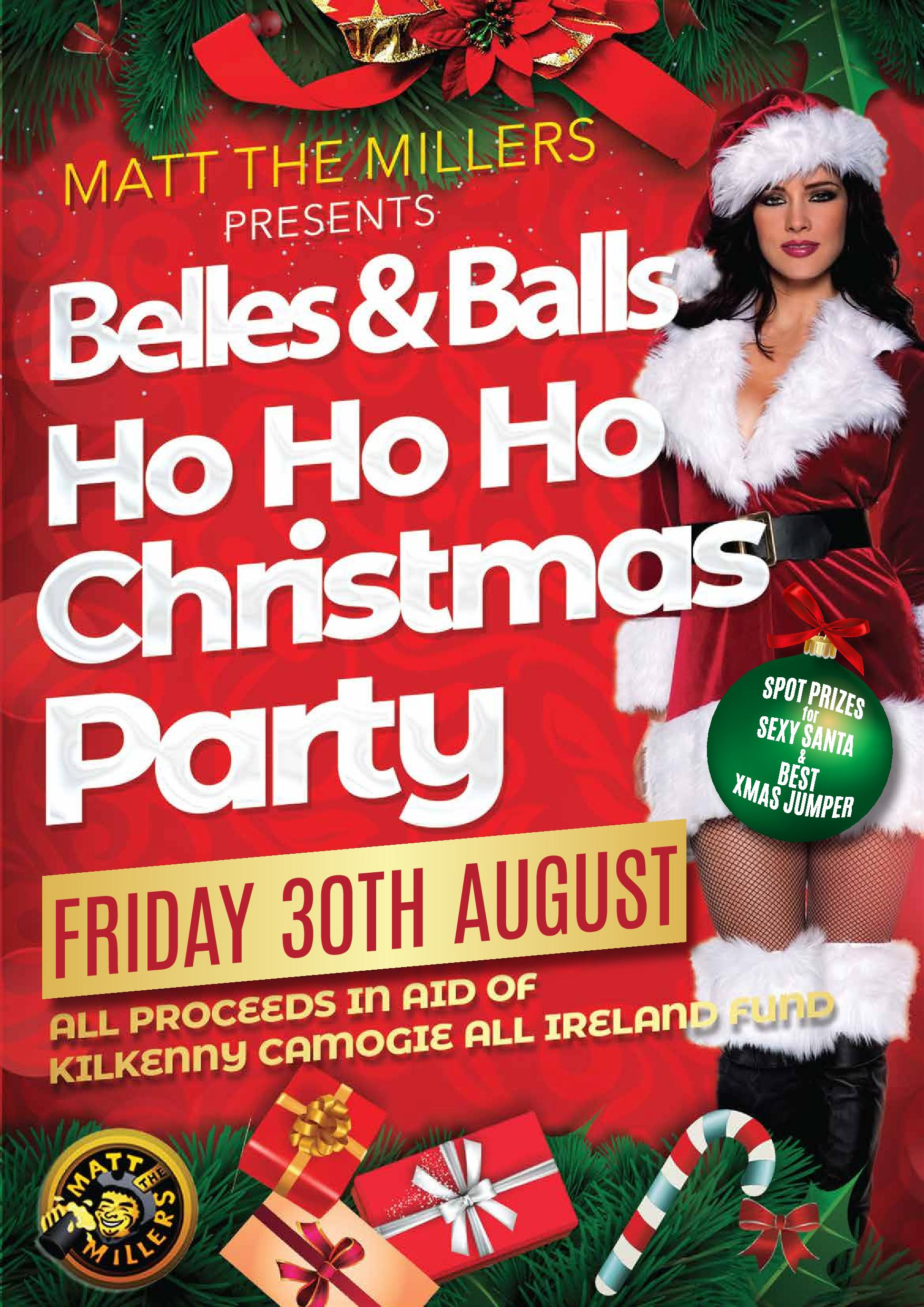 Christmas In August Poster.Ho Ho Ho Bells Balls Christmas Party Friday 30th August